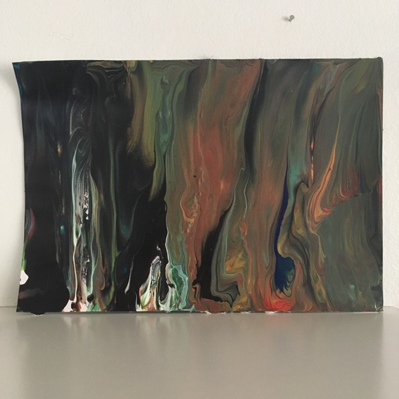 Dark Mood Original Abstract Acrylic Painting